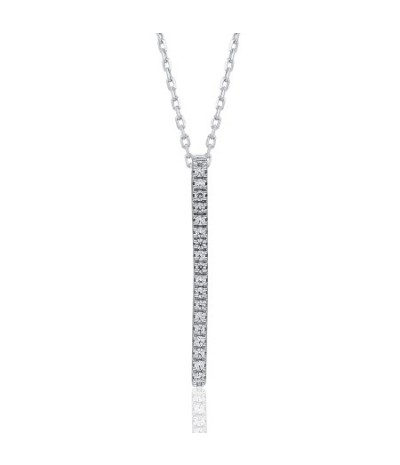 TJD 925 Sterling Silver 0.07 CT (HI Color, I3 Clarity) Diamond Pendant for Women